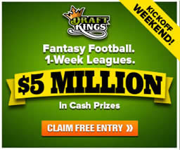 DraftKings Fantasy Football Week 1