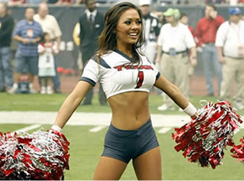 Hot Cheerleader - Texans