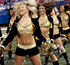 Saintsations Cheerleaders
